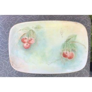 vintage hand painted small porcelain tray trinket